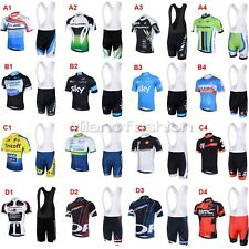Orica BMC Belkin Bicycle Bike Cycling Clothing Padded Bib Shorts Jersey Kit