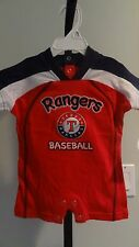 NWT MLB Texas Rangers Appliqued Infant Color Block Romper -  3/6 & 6/9 months