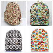 2014 New Arrival Owl Canvas Girls Backpack Chilren School Backpack Travel Bags