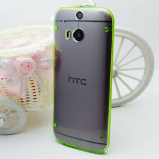 Ultra-Thin Soft TPU Side + Hard PC BackClear SkinCase CoverFor HTC ONE 2 M8