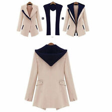 New Slim Women's Autumn and Winter Fashion Coat Step Collar Long Sleeve Jacket