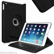 Leather Case Cover with Removable Bluetooth Keyboard For Apple iPad Air iPad 5th