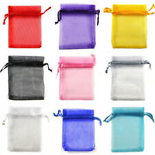 10 Colours & 8 Sizes! Premium ORGANZA Wedding Favour GIFT BAGS Jewellery Pouches