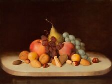 "Robert Seldon Duncanson: ""Still Life with Fruit & Nuts"" (c1893) — Fine Art Print"