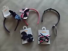 NWT Girl's Gymboree Uniform blue red pink hair headbands & clips & barrettes