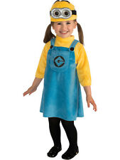 Child Toddler Despicable Me Jax Minion Outfit Fancy Dress Costume Kids Girls
