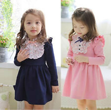 New Design Fashion Child Kid Toddler Clothing Girls Cosy Princess Dress Sz2-7Y