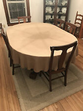 60 X 90 OVAL  BURLAP TABLECLOTH in FAUX JUTE BURLAP IN 2 color choice