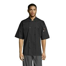 Uncommon Thread Delray Chef Coat 10 Button Mesh Back Short Sleeve, XSto6XL, 0421