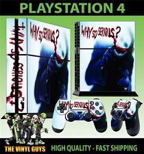 PS4 PLAYSTATION 4 CONSOLE STICKER THE JOKER WHY SO SERIOUS 02 BLOODY + PAD SKINS