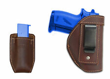 New Barsony Brown Leather IWB Holster + Mag Pouch Astra CZ Mini/Pocket 22 25 380