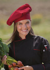 Poplin Chef Hat, In White, Black, Red or White with Black Trim, One Size, 100