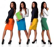 Pencil Skirt Mini Skirts In 9 Colours Size Us 6 8 10 12 - 3616