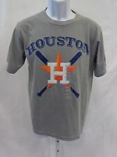 Houston Astros Baseball Adult Houston Crossing Bats Short Sleeve T-Shirt Gray