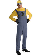 Adult Despicable Me Male Minion Outfit Fancy Dress Costume Mens Gents Male