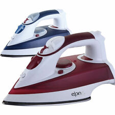 2200 WATT ELECTRIC STEAM SPRAY IRON COMPACT STAINLESS STEEL NON-STICK SOLEPLATE