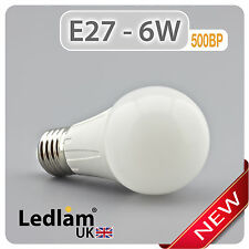 Ledlam E27 500BP 6W LED GLS Bulb = 50W equivalent warm day white
