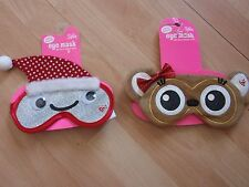 GIRLS JUSTICE EYE MASK LOVE BUG, HAPPY FACE, MONKEY SZ 5, 6, 8, 10, 12, 14,