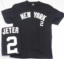 New York Yankees Baseball Adult Jeter Short Sleeve T-Shirt Black