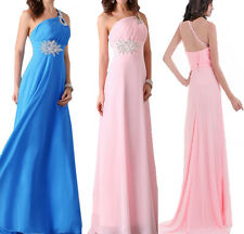 1 Lady Wedding Bridesmaid Cocktail Evening Prom Gown Sequin Chiffon Long Dress