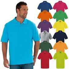 MENS PLAIN PIQUE POLO T- SHIRT SUMMER 100% COTTON SHORT SLEEVE TOP SIZE XS-3XL