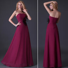 Store Promotion! Elegant Strapless Bridesmaid Evening Prom Formal Long Dress SR