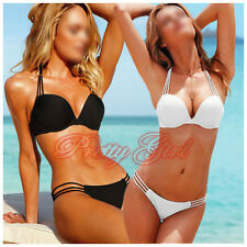 Sexy Lady's Padded Push-up Swimwear Beachwear Bikini Swimsuit Set Bandeau UK