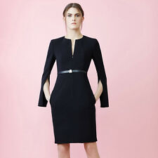 Sexy Office Lady Wear To Work Business Cocktail Party Split Midi Pencil Dress