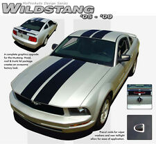 "Racing Rally 10"" Hood Roof Trunk Stripes Graphics Decals fits 2005-2009 Mustang"