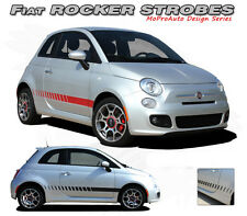 Lower Rocker Panel Strobes Rally Stripes Vinyl Graphic Decal 2011-2014 Fiat 500
