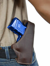 New Barsony Brown Leather Pancake Gun Holster for Ruger Compact 9mm 40 45