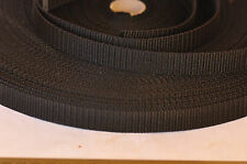 Black polypropylene webbing strapping 20mm & 25mm wide 1,2,3,4,5 metres