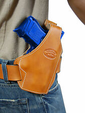 New Barsony Saddle Tan Leather Pancake Gun Holster for Glock Compact 9mm 40 45