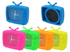 Silicone Retro TV Television Set Analog Small Alarm Clock