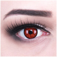 Crazy Fun contact lens with power funny Blue Elf lens case for Halloween