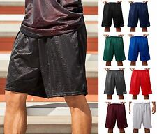 """A4 Adult Men's Lined Mesh 9"""" Inseam Athletic Gym Shorts S-3XL N5296-8 COLORS-New"""