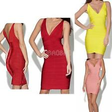 #gib Sexy Women Bodycon Slim Deep V-Neck Mini Evening Party Cocktail Dress