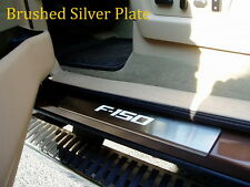 Black anodized / Sliver Stainless LED Door Sill Scuff for 2008-2014 Ford F150