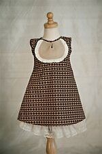 NWT - Persnickety - Brown Annabelle Dress - Paperwhites- Sizes 2 & 5