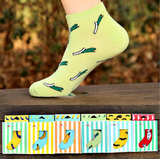 Womens Mens Summer Designer Socks Cotton Rich Lycra Design Socks CAHG