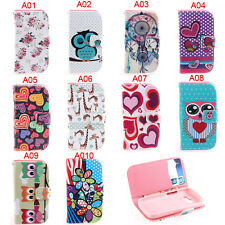 Deluxe A Owls Heart Wallet Leather Flip Case For Samsung Galaxy Star Pro S7262