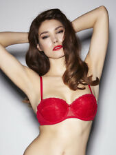 Ann Summers Womens Pure Lace Red Balconette Bra Push Up Underwear Lingerie Sexy