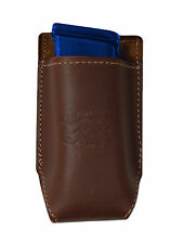 NEW Barsony Brown Leather Single Mag Pouch for Colt 380 & Ultra Comp 9mm 40 45