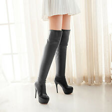2014 NEW Winter Autumn Latest Fashion Women Stiletto Thigh High Heel Shoes Boots