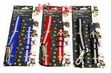 Reflective Dog Collar & Lead Set Available in Blue Black Red Puppy Gift Dog