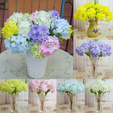 Beautiful Artificial Hydrangea Bouquet Fake Silk Flowers Wedding Decoration Home