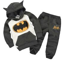 Free Shipping New Autumn and Winter Boys Girls Sets Spider-Man Hooded Coat+Pants