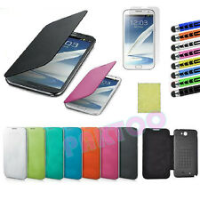Luxury  Slim Hard Case Cover Flip Leather PU For Samsung Galaxy Note 2 II N7100