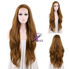"""18""""-28"""" Long Wavy Brown Lace Front Synthetic Wig"""