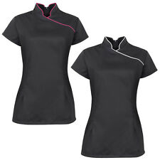 Alexandra Womens Beauty Short Sleeved Top Ladies Stand Collar Tunic Size 8-18